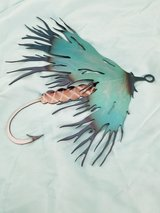 Fly Lure Hook Metal Art 2 left in Tacoma, Washington