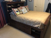 Youth Bed - Double with bookshelf and drawers in Naperville, Illinois