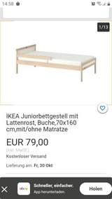 Toddler bed from ikea with mattress in Stuttgart, GE