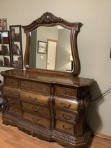 Quality 5 piece bedroom with queen sleigh bed - $900 in Lawton, Oklahoma