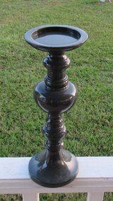 candlestick holder / candle holder / gray plastic in Macon, Georgia
