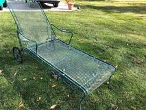 Wrought Iron chaise Lounge with wheels in Oswego, Illinois