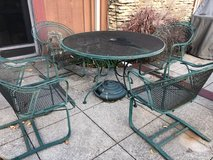 Wrought iron Table and 4 chairs in Oswego, Illinois