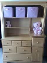 Dresser, Hutch, Nursery changing table in Naperville, Illinois