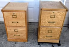 File Cabinet - 2 drawer - Wood Vertical Hanging Letter Size in Wheaton, Illinois