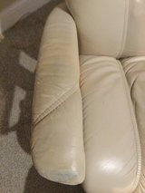 Swivel leather Chair with Ottoman in Naperville, Illinois