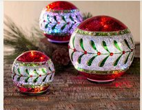 Lighted Christmas Ball Set in Spring, Texas
