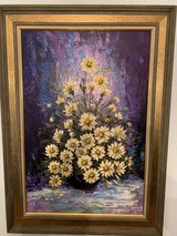 Fine Art - Flowers With Warm Colors and Beautiful Gold Frame in Oswego, Illinois