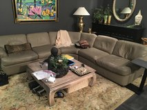 Leather sofa in Beaufort, South Carolina