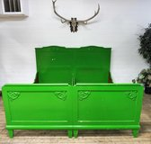 Shabby Chic Kingsize or 2 Single Solidwood Bedframes with Boxsprings in Ramstein, Germany