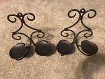 Set of 2 - Double Candle Metal Wall Sconces in Batavia, Illinois