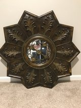 Metal Wall Decor with glass center accent in Batavia, Illinois