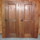 ANTIQUE SOLID WALNUT 2-door CABINET ASSEMBLY in Southwest Michigan in Batavia, Illinois