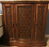 Wood night stands with marble top (2) in Batavia, Illinois