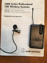 Two AUDIO TECHNICA ATW-1451  1400 SERIES WIRELESS LAVALIER MICROPHONE SYSTEMS in St. Charles, Illinois