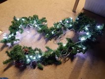 Christmas Garland with lights in Lakenheath, UK