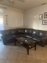Brown Sectional couch  by Ashley in Travis AFB, California
