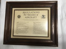 1920 REGULATIONS FOR OPERATION of AIRCRAFT War Dept. Matted Wood Framed Print in Warner Robins, Georgia
