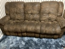Recling couch-Suede leather in Alamogordo, New Mexico