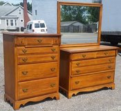Matching Maple Dresser and Mirror $375 in Sugar Grove, Illinois