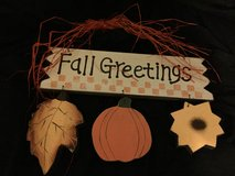 """Fall Greetings"" Charming Sign in Kingwood, Texas"