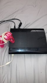 PS3 with pink controller in Columbus, Georgia