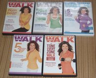 LESLIE SANSONE Just Walk DVD Collection Lot of 5 DVDs in Joliet, Illinois