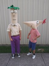 Phineas & Ferb Homemade Foam Heads in Spring, Texas