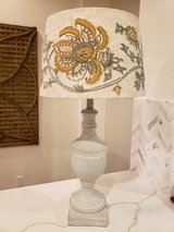 Lamp with Pottery Barn embroidered lamp shade in Spring, Texas