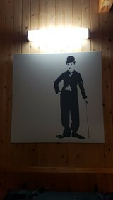 Charlie Chaplin canvas picture in Okinawa, Japan