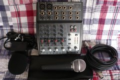 Behringer XENYX 802 Mixer/Mike--Bundle--Like New--LOW Hours--Guaranteed! in Alamogordo, New Mexico