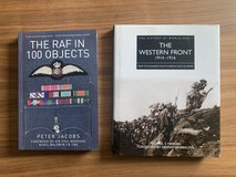 2 books 'the RAF in 100 Objects' and 'WW1 the Western Front' in Stuttgart, GE