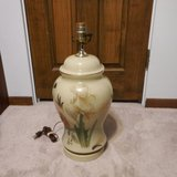 3 way dimming Oriental design ceramic/glass table lamp in Yorkville, Illinois
