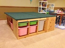 *LIKE NEW* Large, custom IKEA kids play table with storage - very sturdy! in St. Charles, Illinois
