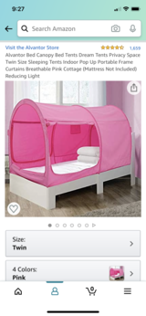 "*BRAND NEW* pink twin bed tent by ""Alvantor"" in Aurora, Illinois"