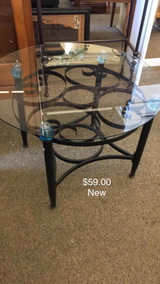 Glass End Table (New) in Fort Leonard Wood, Missouri