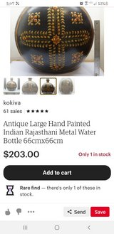 Antuque Indian Hand painted Water jug in Conroe, Texas