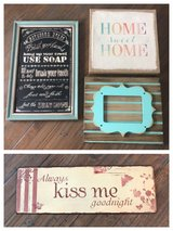 Four home decor pictures & frame in Warner Robins, Georgia