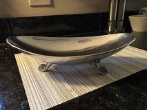 Decorative Silver Metal Serving Bowl in Plainfield, Illinois