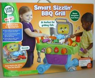 New! LeapFrog Smart Sizzlin' BBQ Grill Learning Toy incl Food & Utensils in Orland Park, Illinois