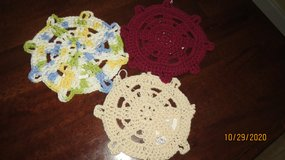 New Crocheted Dish Clothes Ships Helm & Dress Design #11 in Warner Robins, Georgia