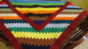 "New Crocheted Blanket #50-3 Multicolored 42"" X 43"" in Warner Robins, Georgia"