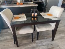 Dining Table and 4 chairs & glass top in 29 Palms, California