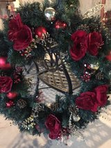 "36"" very full decorated wreath with lights in Oswego, Illinois"