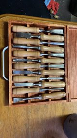 like new set of wood turning tools, with case in Warner Robins, Georgia