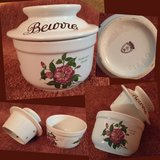 Butter Bell Crock or Beurre Keeper Dish with Floral Design French in Ramstein, Germany