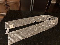New Fossil Brand Silver Sequined/Dove Gray Scarf in Bolingbrook, Illinois