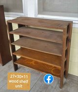 solid wood shelf unit in Manhattan, Kansas
