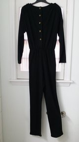 Size 13/14 - Long Black Jumpsuit in Chicago, Illinois