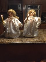 Set of matching angels with candels in Oswego, Illinois